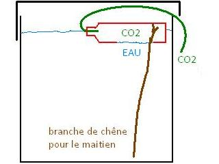 Schéma du fonctionnement de la cloche à co2