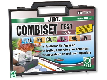 CombiSet mallette de tests pour JBL pour pH, Fer, KH, NO2, NO3 et CO2